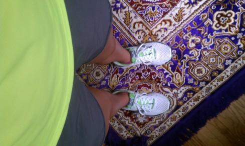finally got my shoes on.