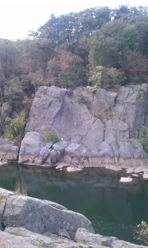 love how calm the water was. and there were some people repelling down the side
