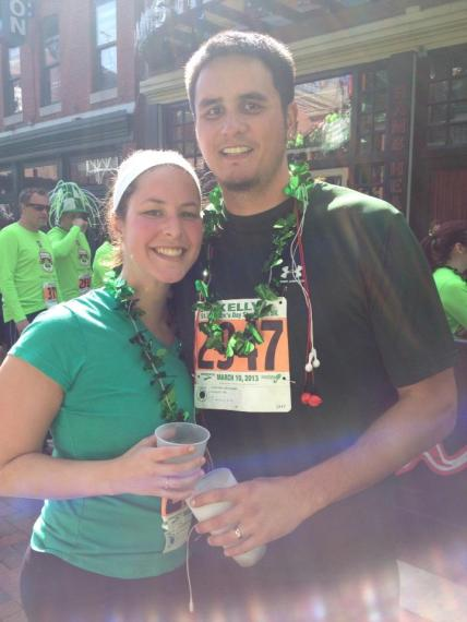 Me and Matt at the Shamrock 5k earlier this year