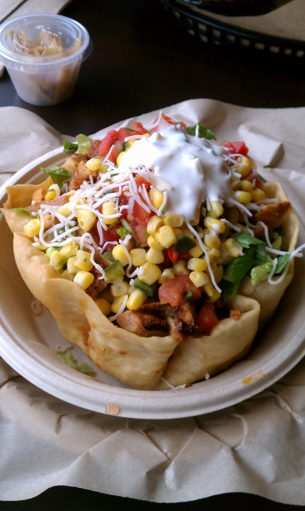 taco salad from Qdoba