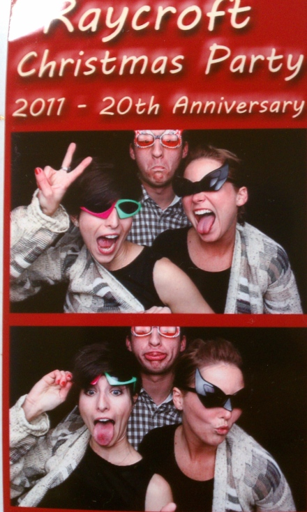 Photobooth at a Christmas party = best. idea. ever.